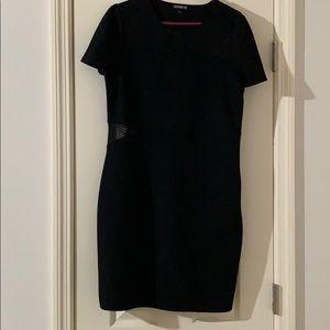 Express Mesh Cutout Dress